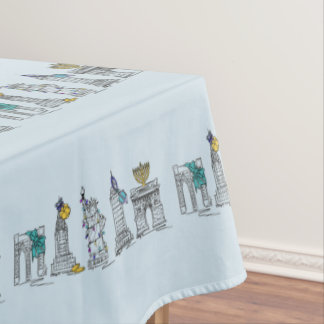 New York City Hanukkah NYC Jewish Holiday Chanukah Tablecloth