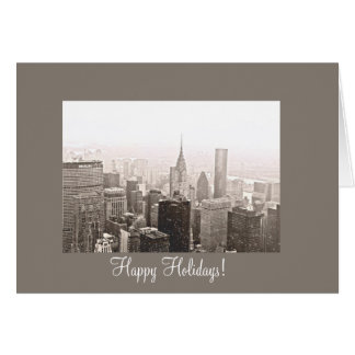 New York City Happy Holidays Greeting Card