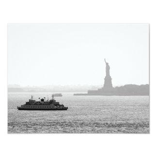 "New York City Harbor - Statue of Liberty 4.25"" X 5.5"" Invitation Card"
