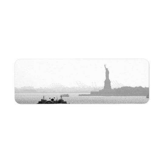 New York City Harbour - Statue of Liberty Return Address Label