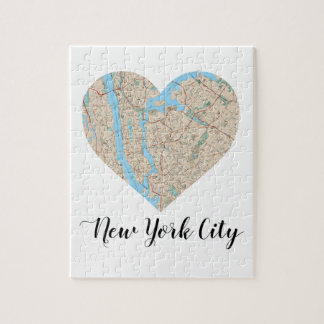 New York City Heart Map Jigsaw Puzzle