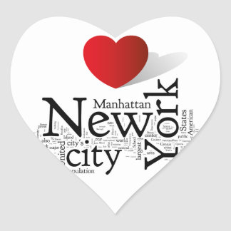 New York City Heart Sticker