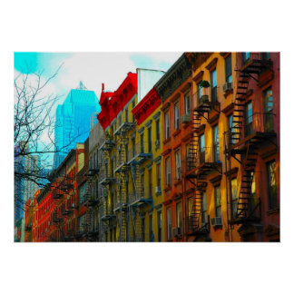 """New York City """"Hell's Kitchen District Street"""" Poster"""
