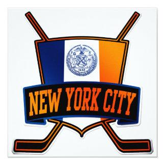 New York City Hockey Flag 13 Cm X 13 Cm Square Invitation Card