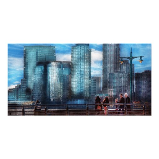 New York - City - Hudson River Park - Downtown Photo Card