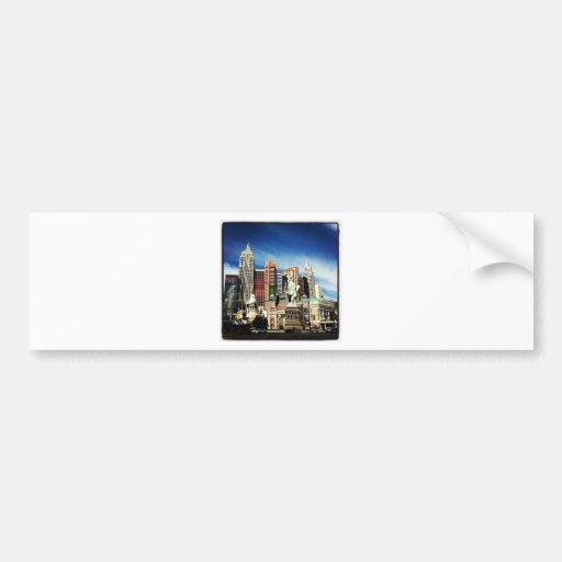 New York City in Las Vegas Bumper Sticker