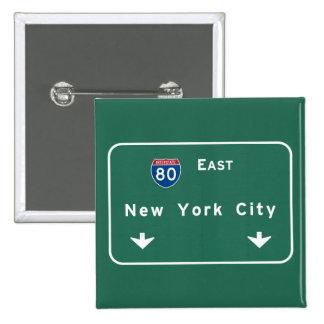 New York City Interstate Highway Freeway Road Sig 15 Cm Square Badge