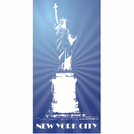 New York City- Liberty Statue Cut Out