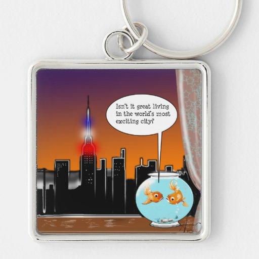 New York City Living Keychains