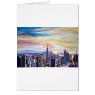 New York City Manhatta Skyline Card