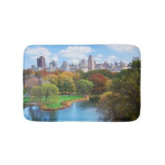 New York City Manhattan Central Park Panorama Bath Mats