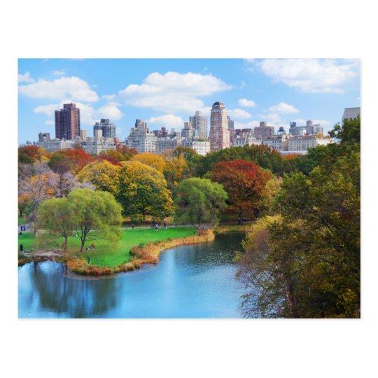 New York City Manhattan Central Park Panorama Postcard