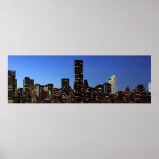 New York City Manhattan Night Poster