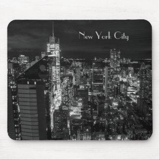 New York City Manhattan Night Skyline Mouse Mat