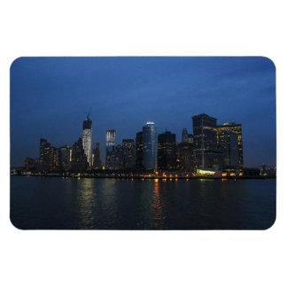 New York City Manhattan Night Skyline Flexible Magnet