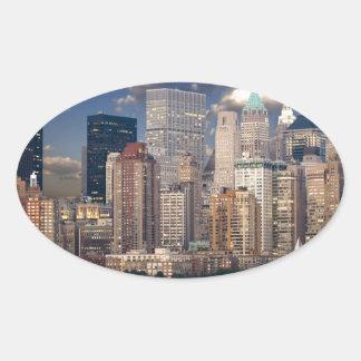 New York City Manhattan Oval Sticker