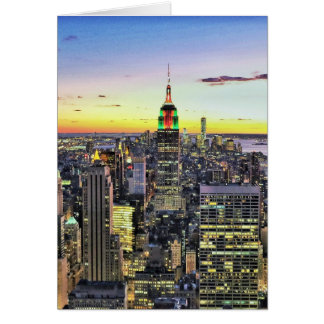 New York City Manhattan Skyline Card