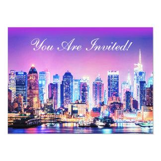 New York City Manhattan Skyline Invitation