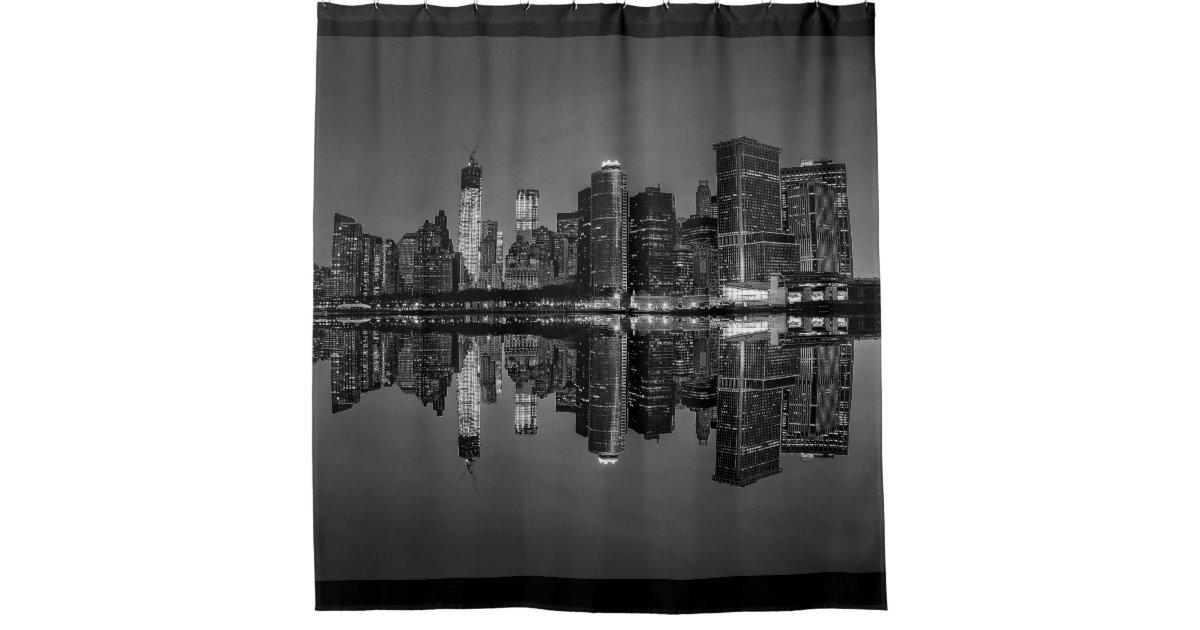 New York City Manhattan Skyline Shower Curtain