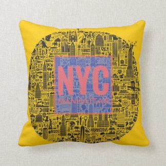 New York City Manhattan Throw Pillow