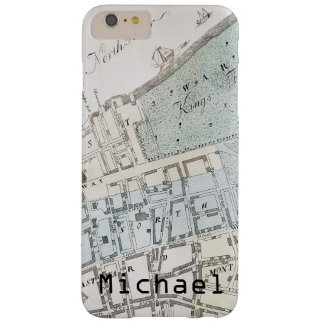 New York City Map, 1728 Barely There iPhone 6 Plus Case