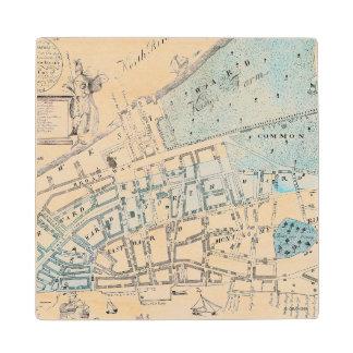 New York City Map, 1728 Wood Coaster