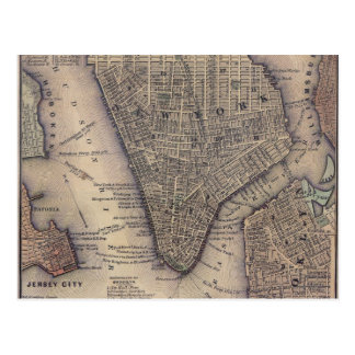 New York City Map Postcard