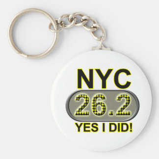 New York City Marathon Key Ring