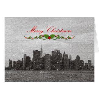 New York City, Merry Christmas Greeting Card