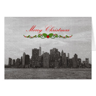 New York City, Merry Christmas Greeting Card