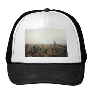 New York City Midtown Cityscape Mesh Hat