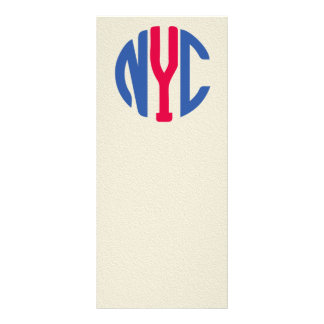 New York City monogram Custom Rack Card