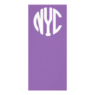 New York City monogram Full Colour Rack Card