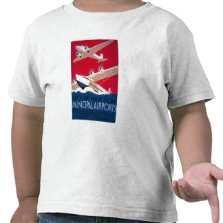 New York City Municipal Airport Vintage Poster Tee Shirts