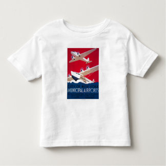 New York City Municipal Airport Vintage Poster T Shirt