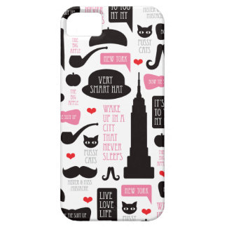 New York City mustache vintage pattern iPhone 5 Case