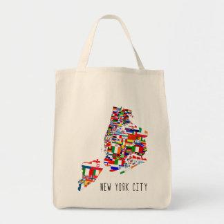 New York City Neighborhood Flags Tote Bag