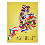 New York City Neighbourhood Flags Postcards