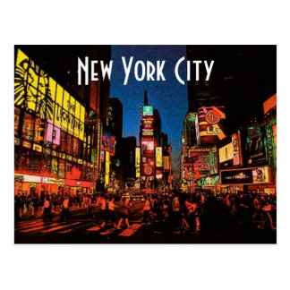 New York City (Neon) Postcard