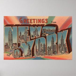 New York City, New York - Large Letter Scenes 4 Poster