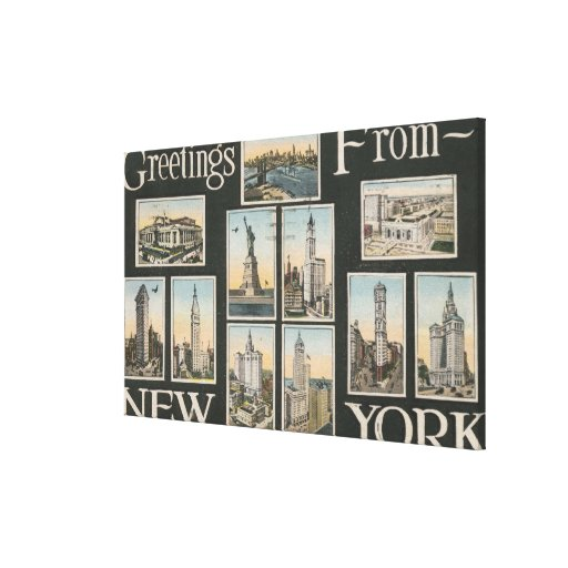 New York City, New YorkGreetings Stretched Canvas Print