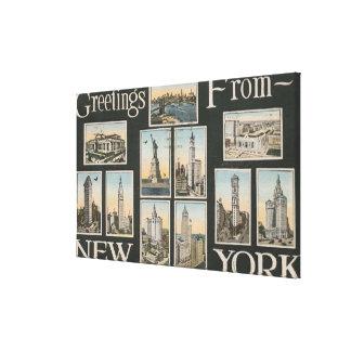 New York City, New YorkGreetings Canvas Print
