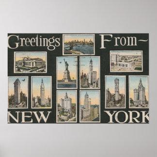 New York City New YorkGreetings Print