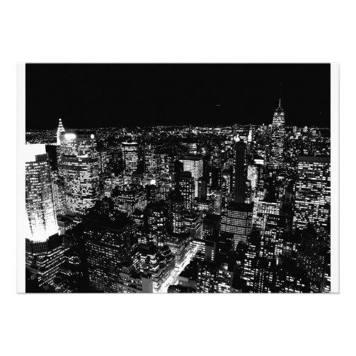 New York City Night Invitation