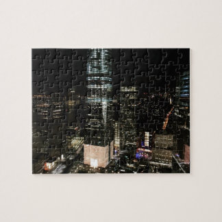 New York City Night NYC Manhattan Skyline Photo Jigsaw Puzzle