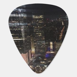 New York City Night NYC Skyline Manhattan Photo Plectrum