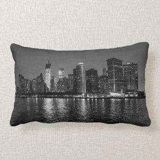 New York City Night Skyline Lumbar Cushion