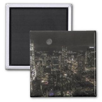 New York City Night Skyline Refrigerator Magnets