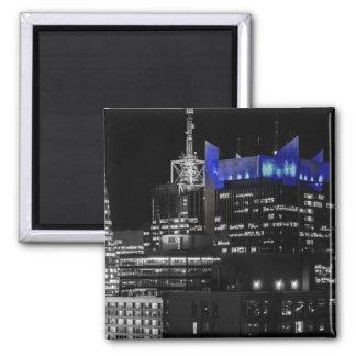 New York City Night Skyline Refrigerator Magnet
