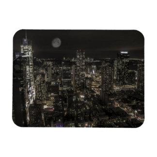 New York City Night Skyline Flexible Magnet